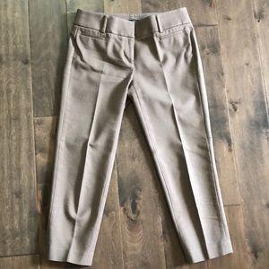 Loft khaki cropped dress pants